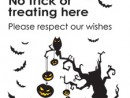 No Trick or Treat Poster