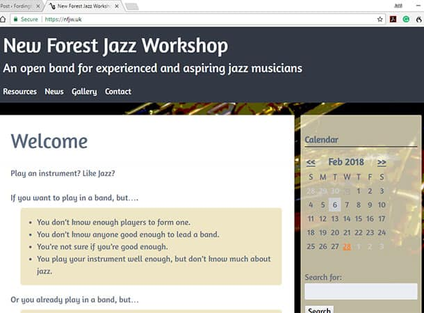 The New Forest Jazz Workshop has a new website!